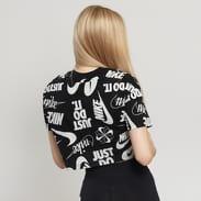 Nike W NSW Essential Top SS Crop černé / bílé