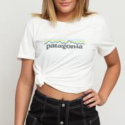Patagonia W's Pastel P-6 Logo Organic Crew Tee biele