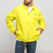Stüssy Nylon Zip Jacket žlutozelená
