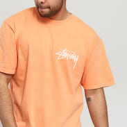 Stüssy Stock Pig. Dyed Tee oranžové