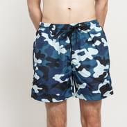 Urban Classics Camo Swim Shorts camo navy / modré