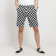 Urban Classics Check Twill Shorts světle šedé / černé