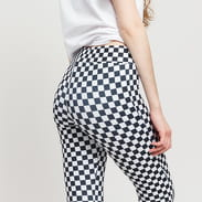 Urban Classics Ladies Check Pattern Leggings čierne / biele