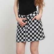 Urban Classics Ladies Check Twill Skirt svetlošedá / čierna