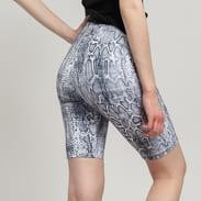 Urban Classics Ladies Cycle Pattern Shorts tmavě šedé / bílé