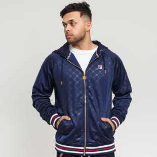 Fila Men Royce Embossed Zip Hoodie