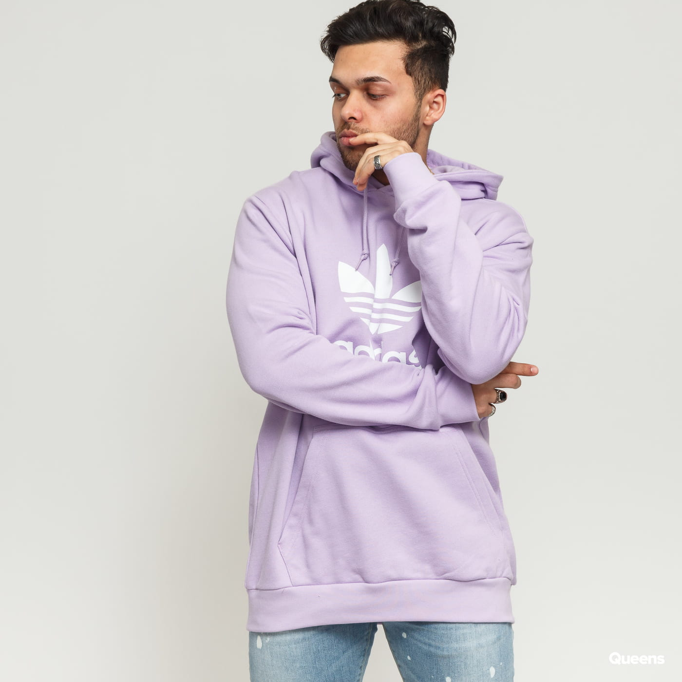 adidas Originals Trefoil Hoodie hell lila