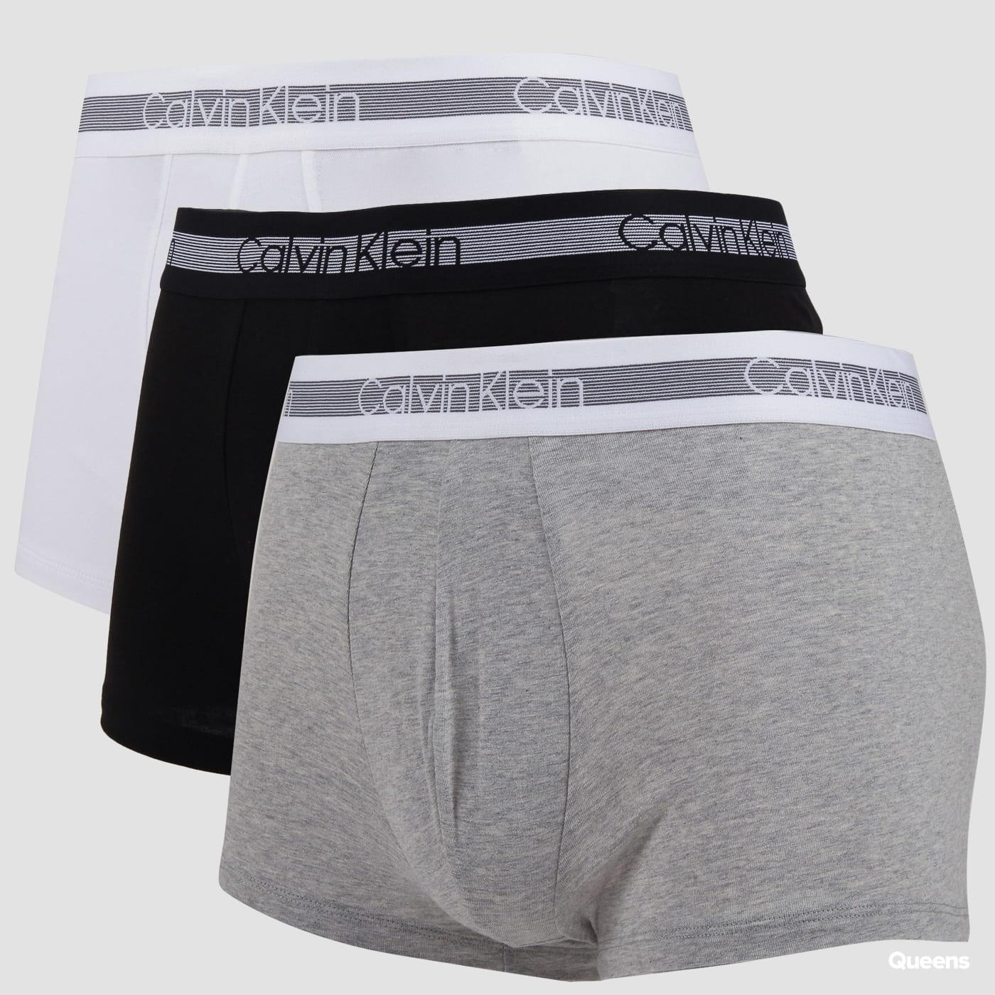 Calvin Klein 3 Pack Cooling Trunk C/O melange šedé / čierne / biele
