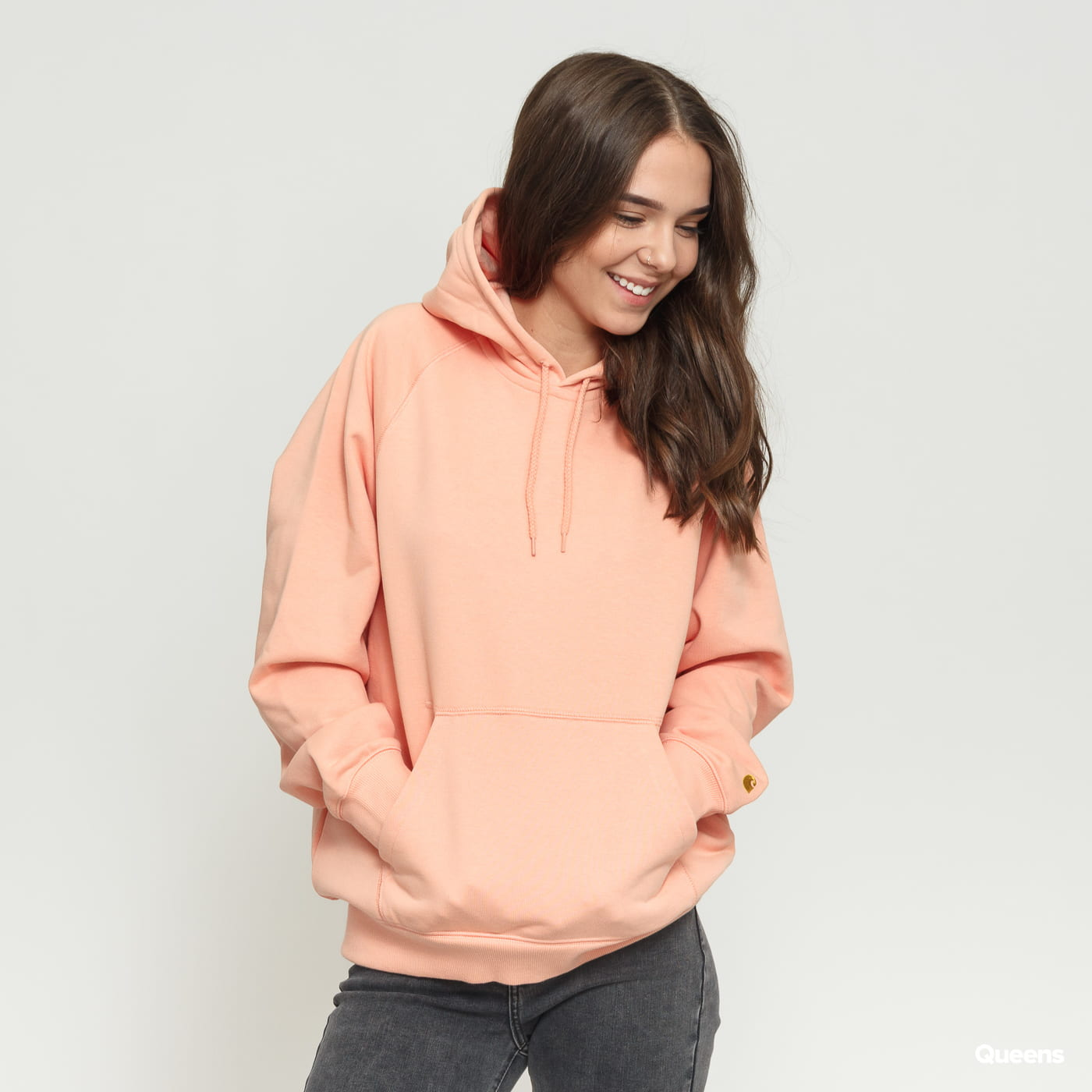 official supplier hot product clearance sale Carhartt WIP W' Hooded Chase Sweat light orange