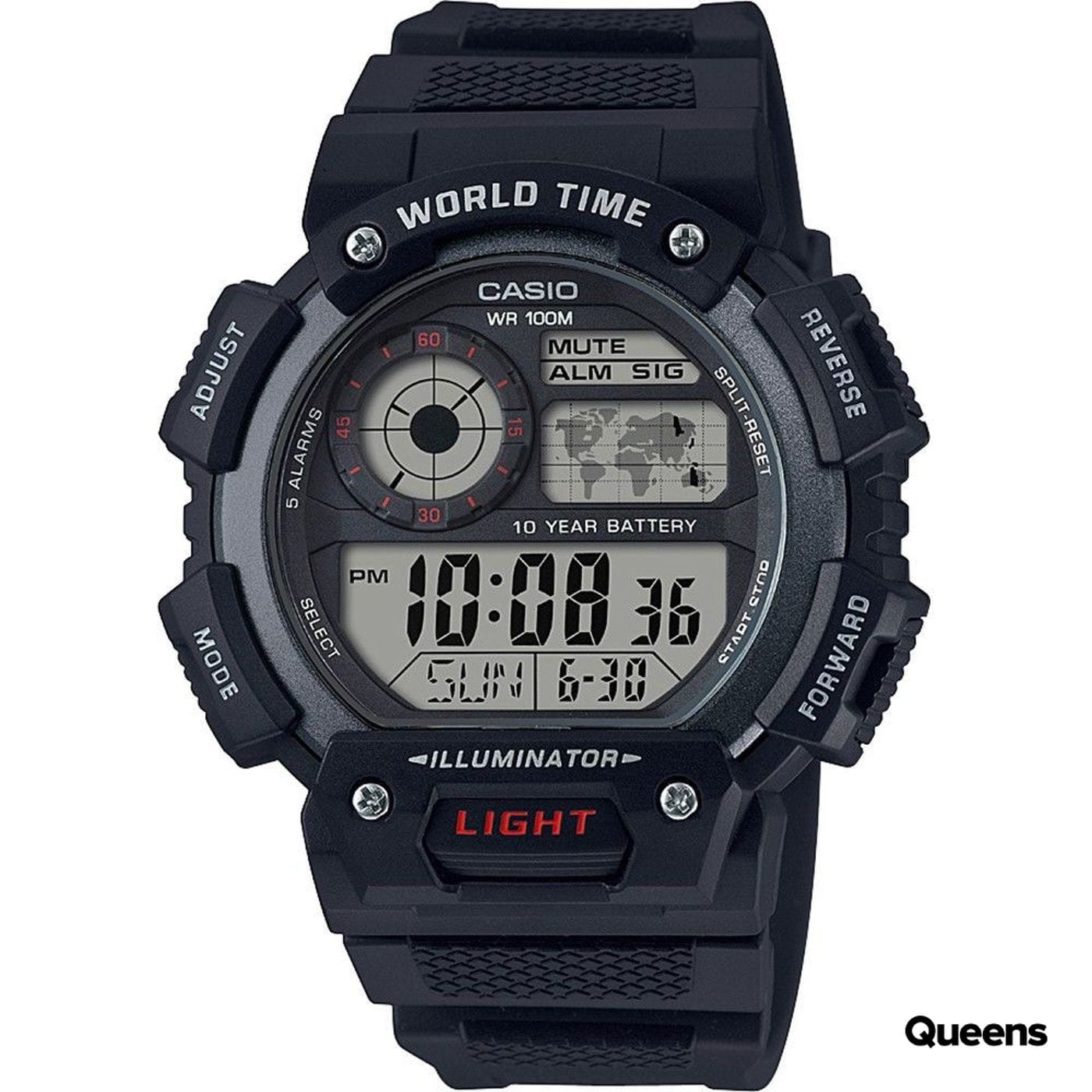 Casio AE 1400WH-AVEF black satin