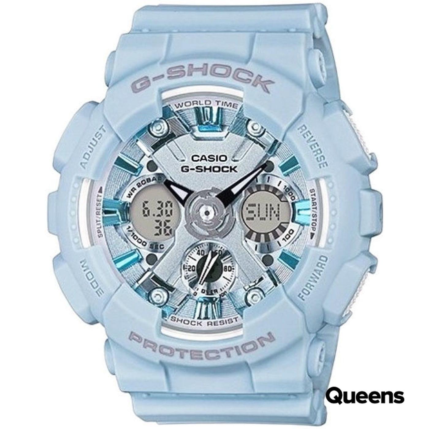 86a1a69a1 Hodinky Casio G-Shock GMA S120DP-2AER svetlomodré – Queens 💚
