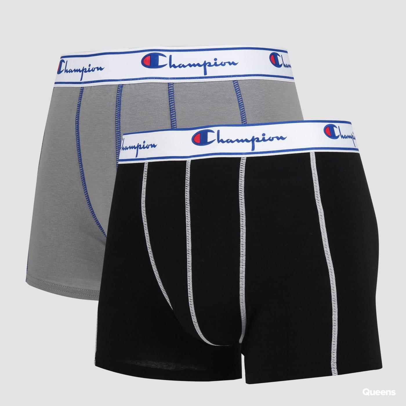 Champion 2 Pack Boxers schwarz / grau