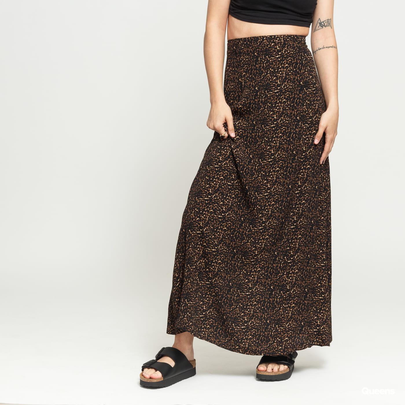 EDITED Harlee Skirt čierna / hnedá / béžová
