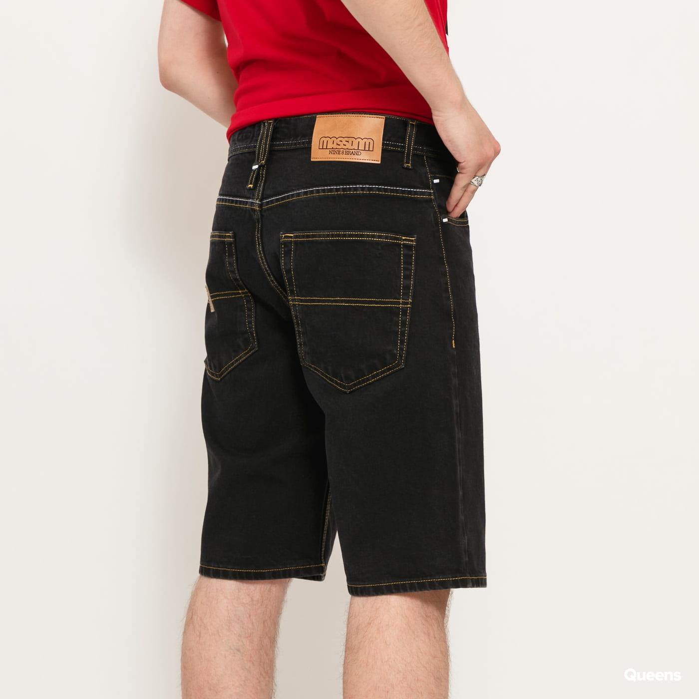 Mass DNM Base Regular Fit Shorts Jeans black rinse