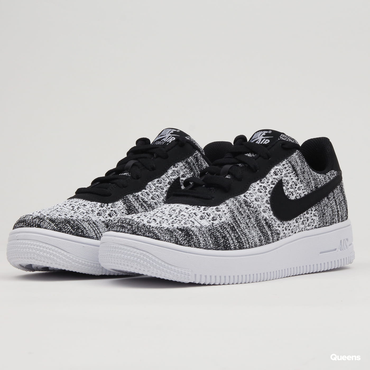 the latest a399a 3219e Nike Air Force 1 Flyknit 2.0 (GS) black   pure platinum - white  (BV0063-001) – Queens 💚