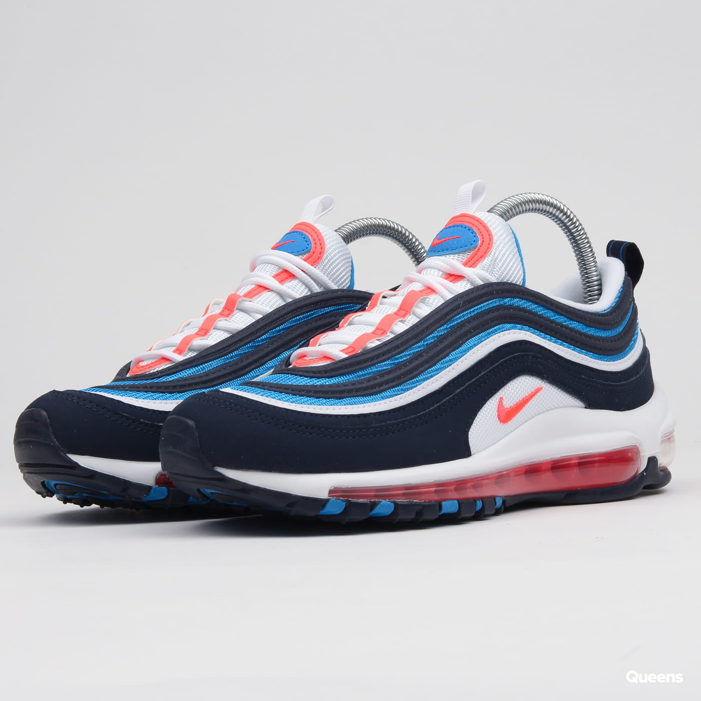 Nike Air Max 97 BG white bright crimson obsidian
