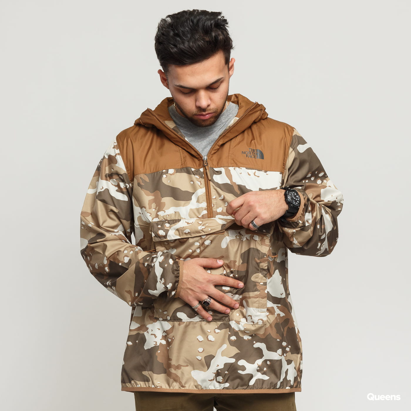 6ba551836 The North Face M Novelty Fanorak camo brown / beige