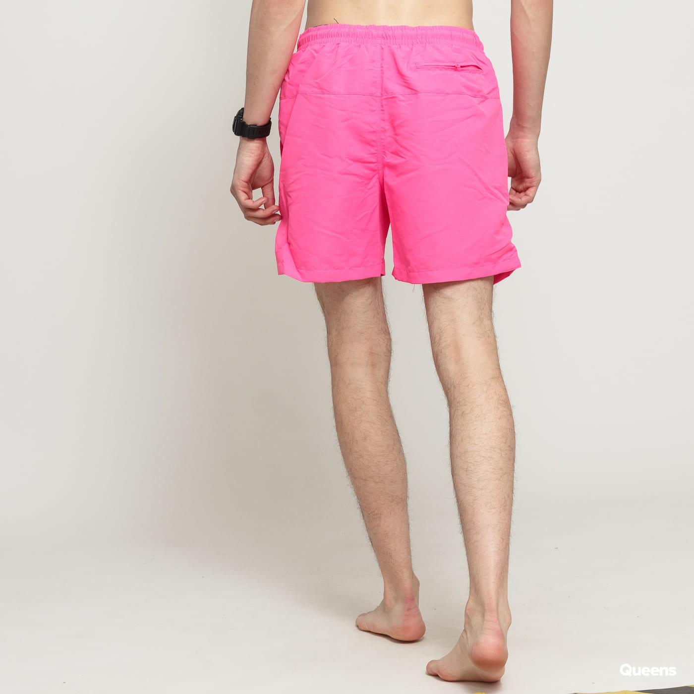 Urban Classics Block Swim Shorts neon pink