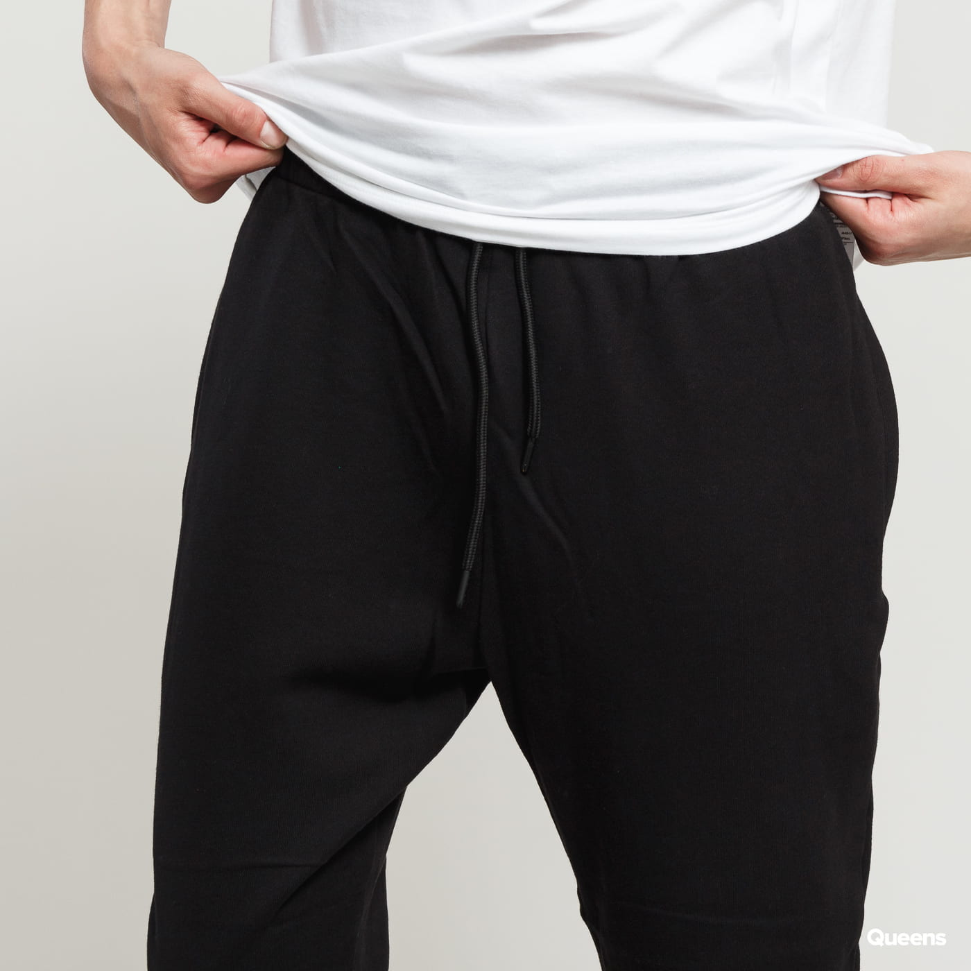 Urban Classics Cropped Terry Pants black