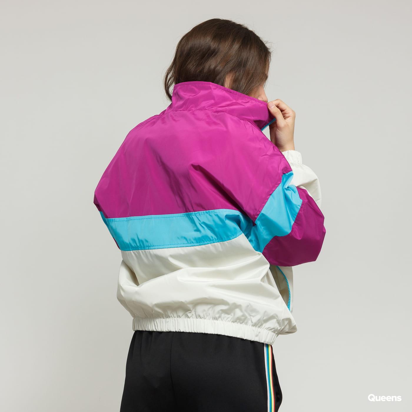 Urban Classics Ladies 3-Tone Stand Up Collar Pull Over Jacket lila / creme / blau