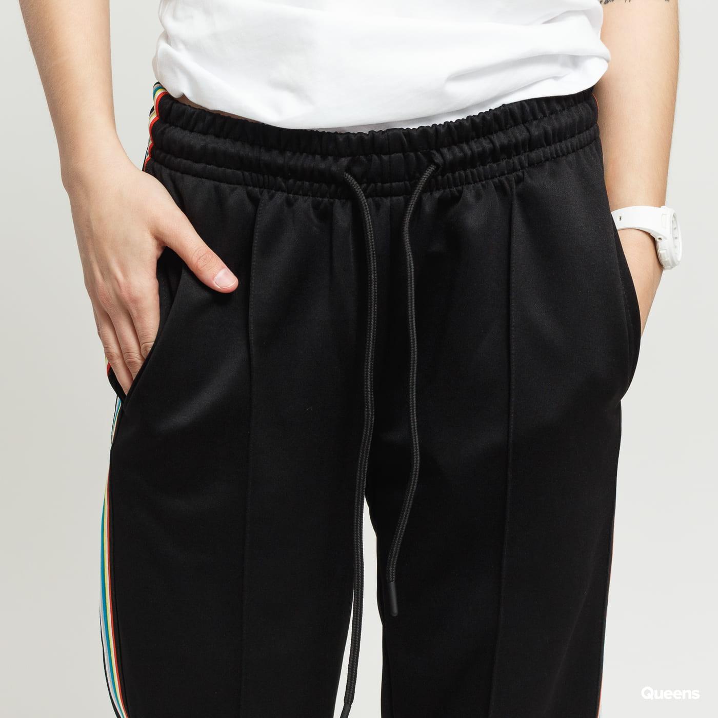 Urban Classics Ladies Multicolor Side Taped Track Pants black satin
