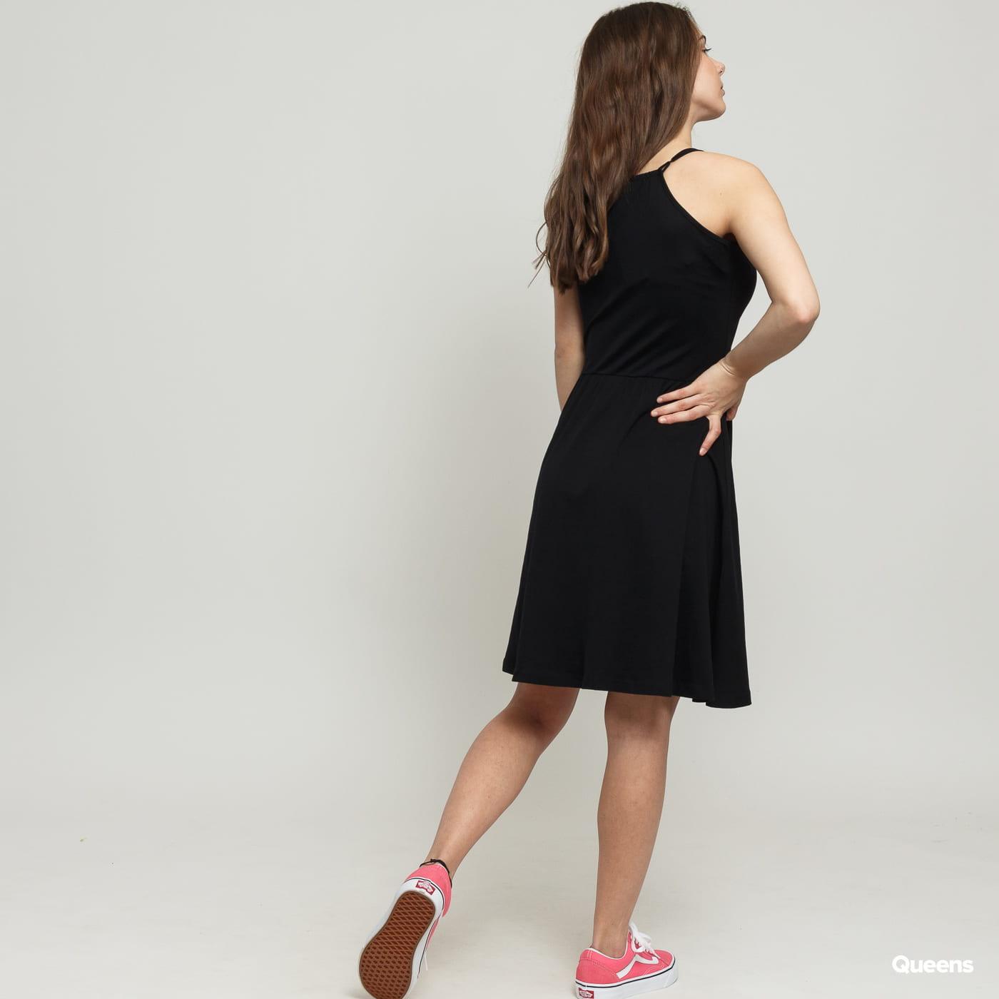Urban Classics Ladies Spaghetti Dress černé