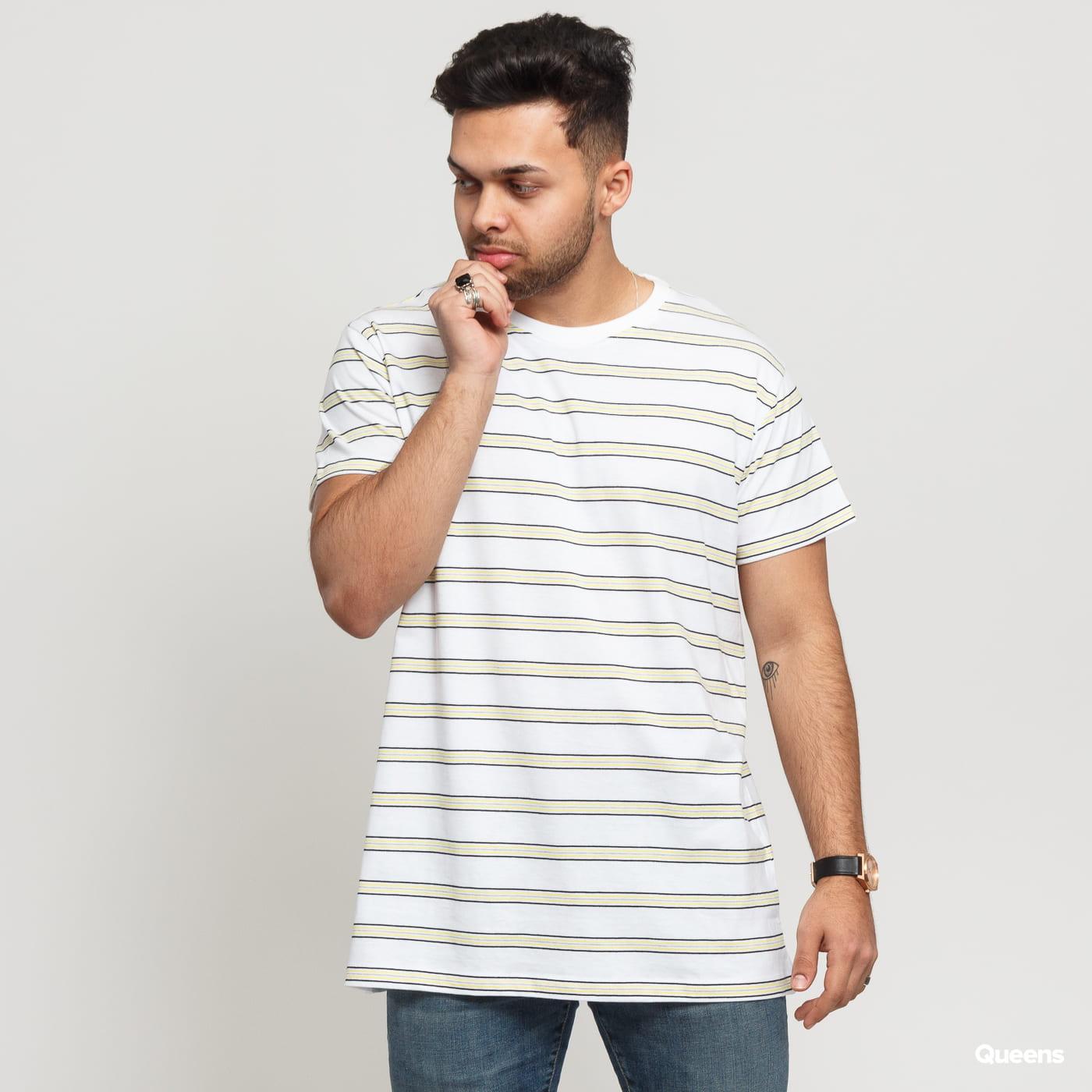 Urban Classics Multicolor Stripe Tee white / black / yellow / gray