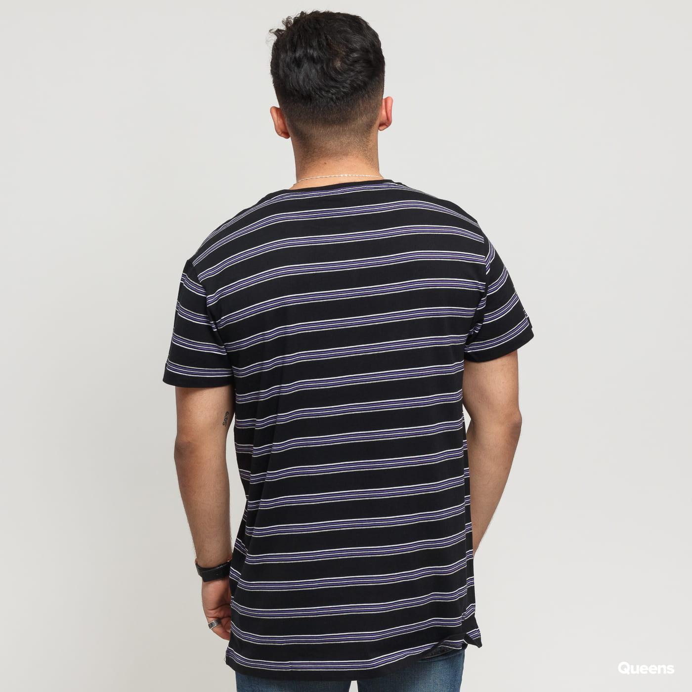 Urban Classics Multicolor Stripe Tee black / gray / purple / white