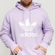 adidas Originals Trefoil Hoodie světle fialová