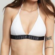 Calvin Klein Fixed Triangle - RP Bra bílé / černé