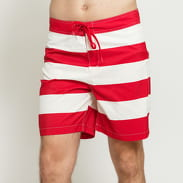 Carhartt WIP Roslyn Swim Trunks červené / bílé