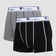Champion 2 Pack Boxers černé / šedé