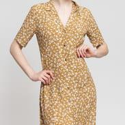 EDITED Bruna Dress béžové / bílé
