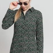 EDITED Lucilla Dress černé / zelené / bílé