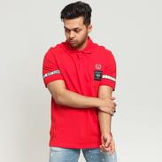 FRED PERRY Taped Pique Shirt červené