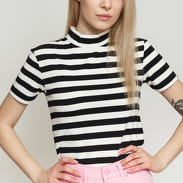 LAZY OAF Big Stripe Fitted Tee bílé / černé
