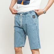 Mass DNM Signature Straight Fit Shorts Jeans light blue