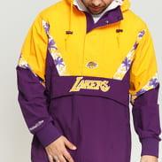 Mitchell & Ness NBA Half Zip Team Colour Anorak LA Lakers fialová / žlutá