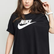 Nike W NSW Tee Essential Futura Plus Size černé
