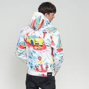 Pink Dolphin Race Wave Denim Jacket bílá / multicolor