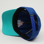 Pink Dolphin Waves 6 Panel Hat modrá / tyrkysová