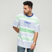 PLEASURES Feed Back SS T-Shirt bílé / modré / zelené