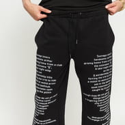 PLEASURES Teenagelover Sweatpants černé
