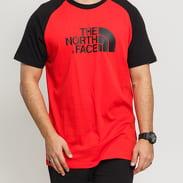 The North Face M SS Raglan Easy Tee červené / černé