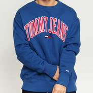 TOMMY JEANS M Clean Collegiate Crew modrá