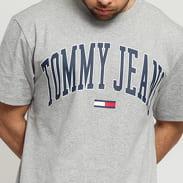 TOMMY JEANS M Collegiate Logo Tee melange šedé