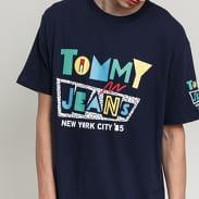 TOMMY JEANS M Retro Geo Tee navy