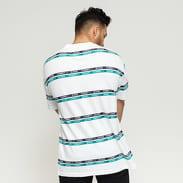 TOMMY JEANS M Signature Stripe Tee bílé / zelené / černé
