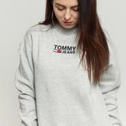 TOMMY JEANS W Bold Tommy Crew melange šedá