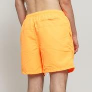Urban Classics Block Swim Shorts neon oranžové